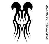 tribal tattoo art designs.... | Shutterstock .eps vector #652094905