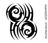 tribal tattoo art designs.... | Shutterstock .eps vector #652094995