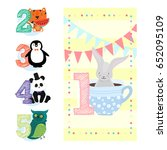 happy birthday invitation... | Shutterstock .eps vector #652095109