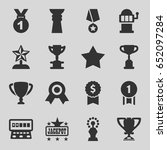 prize icons set. set of 16... | Shutterstock .eps vector #652097284