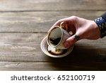 woman fortuneteller hand with... | Shutterstock . vector #652100719