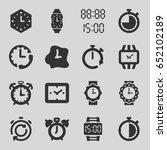 timer icons set. set of 16... | Shutterstock .eps vector #652102189