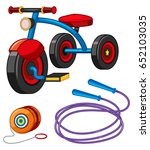 tricycle and other toys...   Shutterstock .eps vector #652103035