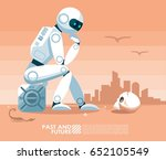 ai artificial intelligence... | Shutterstock .eps vector #652105549