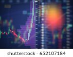stock market digital graph... | Shutterstock . vector #652107184