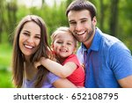 family with daughter  | Shutterstock . vector #652108795
