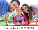 family with daughter | Shutterstock . vector #652108831