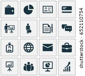 business icons set. collection...   Shutterstock .eps vector #652110754