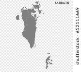 high quality map of bahrain...   Shutterstock .eps vector #652111669