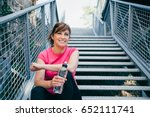 happy and beautiful middle aged ... | Shutterstock . vector #652111741