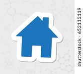 vector flat sticker home icon...