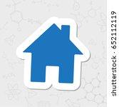 vector flat sticker home icon...