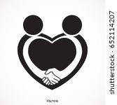 handshake sympathy icon  love... | Shutterstock .eps vector #652114207