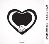 handshake sympathy icon  love... | Shutterstock .eps vector #652114225
