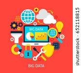 big data flat concept. poster...   Shutterstock .eps vector #652118815