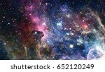 nebulae and galaxies. elements... | Shutterstock . vector #652120249