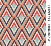geometry zig zag vector pattern.... | Shutterstock .eps vector #652133857