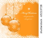 christmas scene with hanging... | Shutterstock .eps vector #65213728