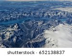Greenland, view from airplane