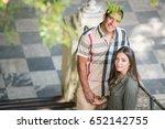tourist couple in love | Shutterstock . vector #652142755