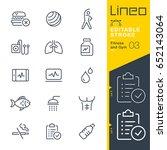 lineo editable stroke   fitness ... | Shutterstock .eps vector #652143064