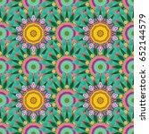 trendy seamless floral pattern. ... | Shutterstock . vector #652144579