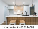 modern scandinavian kitchen... | Shutterstock . vector #652144609