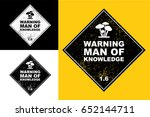warning man of knowledge | Shutterstock .eps vector #652144711