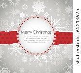 template frame design for xmas... | Shutterstock .eps vector #65214625
