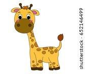 giraffe flat icon | Shutterstock . vector #652146499