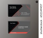 vector image  business card in... | Shutterstock .eps vector #652149457