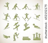winter sports games icons | Shutterstock .eps vector #652152175