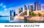singapore city  singapore ... | Shutterstock . vector #652152799