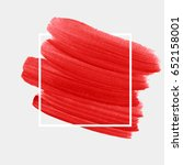 logo brush painted acrylic... | Shutterstock .eps vector #652158001