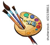 Artist's Palette With Paints...