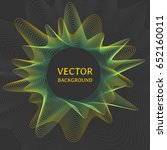 futuristic vector background... | Shutterstock .eps vector #652160011