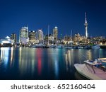 Night View Of Auckland City An...