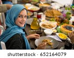 muslim little girl having... | Shutterstock . vector #652164079