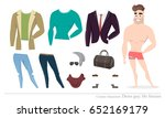 clothing sets for men.... | Shutterstock .eps vector #652169179