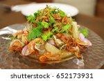 pomelo salad thai style.   Shutterstock . vector #652173931