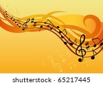 music background  with notes... | Shutterstock .eps vector #65217445