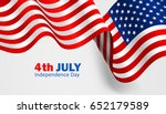 national flag of united states... | Shutterstock .eps vector #652179589