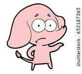 cartoon unsure elephant   Shutterstock .eps vector #652187365