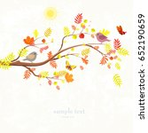 Autumn Invitation Card With...