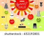 banner summer sale discounts ... | Shutterstock .eps vector #652192801