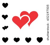 simple heart icon colection... | Shutterstock .eps vector #652197505