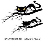 halloween theme evil black cat... | Shutterstock .eps vector #652197619