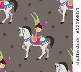retro circus seamless vector...   Shutterstock .eps vector #652198021