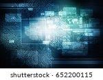 2d illustration technology... | Shutterstock . vector #652200115