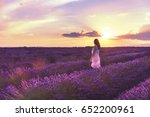 walking women in the field of... | Shutterstock . vector #652200961